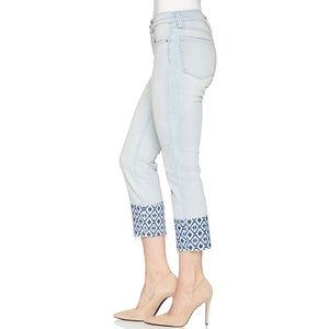 NYDJ Sherri ankle jeans printed raw hem size 4